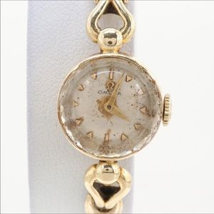 Vintage 14K Omega Wristwatch, Works
